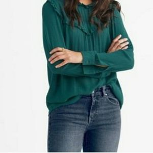 Beautiful dark green blouse by Ellos